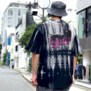 <img class='new_mark_img1' src='https://img.shop-pro.jp/img/new/icons1.gif' style='border:none;display:inline;margin:0px;padding:0px;width:auto;' />【LEFLAH】town tie dye tee(BLK)