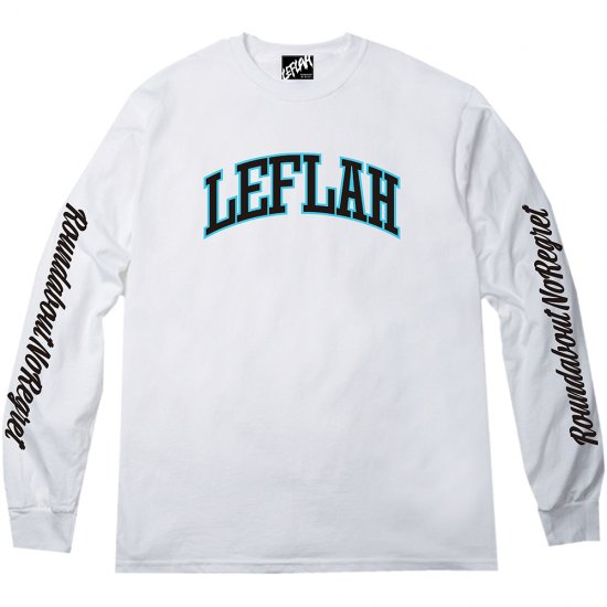 <img class='new_mark_img1' src='https://img.shop-pro.jp/img/new/icons2.gif' style='border:none;display:inline;margin:0px;padding:0px;width:auto;' />【LEFLAH】LEFLAH arch logo long tee(WHT)