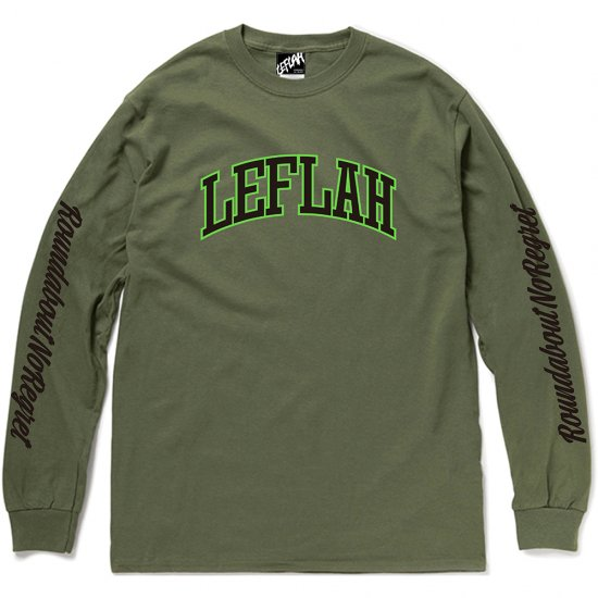 <img class='new_mark_img1' src='https://img.shop-pro.jp/img/new/icons2.gif' style='border:none;display:inline;margin:0px;padding:0px;width:auto;' />【LEFLAH】LEFLAH arch logo long tee(KAH)