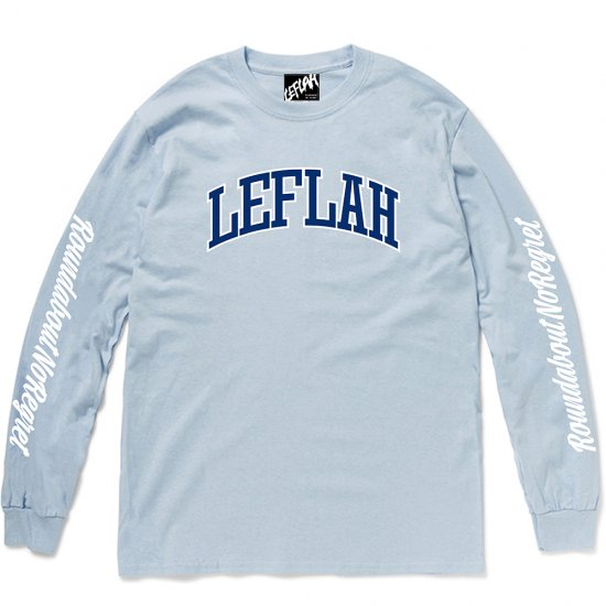 <img class='new_mark_img1' src='https://img.shop-pro.jp/img/new/icons2.gif' style='border:none;display:inline;margin:0px;padding:0px;width:auto;' />【LEFLAH】LEFLAH arch logo long tee(BLU)