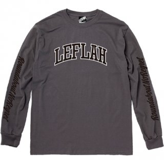 <img class='new_mark_img1' src='https://img.shop-pro.jp/img/new/icons2.gif' style='border:none;display:inline;margin:0px;padding:0px;width:auto;' />【LEFLAH】LEFLAH arch logo long tee(CHA)