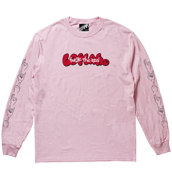 <img class='new_mark_img1' src='https://img.shop-pro.jp/img/new/icons2.gif' style='border:none;display:inline;margin:0px;padding:0px;width:auto;' />【LEFLAH】forge logo long tee(PNK)