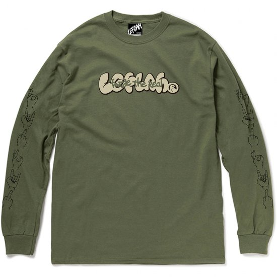 <img class='new_mark_img1' src='https://img.shop-pro.jp/img/new/icons2.gif' style='border:none;display:inline;margin:0px;padding:0px;width:auto;' />【LEFLAH】forge logo long tee(KAH)