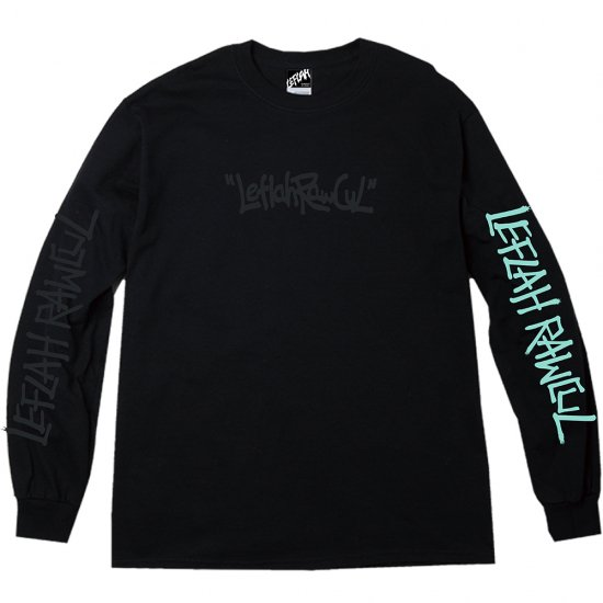 <img class='new_mark_img1' src='https://img.shop-pro.jp/img/new/icons2.gif' style='border:none;display:inline;margin:0px;padding:0px;width:auto;' />【LEFLAH】hand writing logo long tee(BLK)