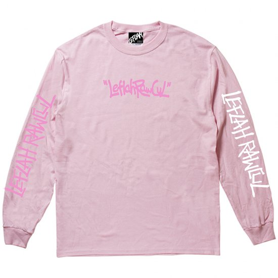 <img class='new_mark_img1' src='https://img.shop-pro.jp/img/new/icons2.gif' style='border:none;display:inline;margin:0px;padding:0px;width:auto;' />【LEFLAH】hand writing logo long tee(PNK)