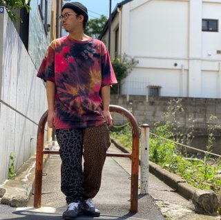 <img class='new_mark_img1' src='https://img.shop-pro.jp/img/new/icons1.gif' style='border:none;display:inline;margin:0px;padding:0px;width:auto;' />【LEFLAH】leopard pattern easy pants(BLK)