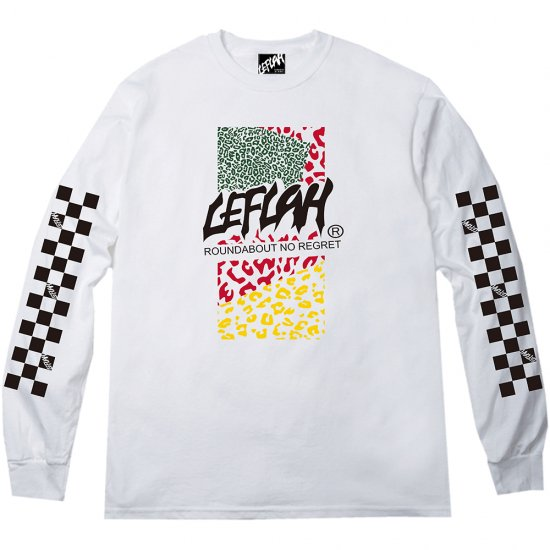 <img class='new_mark_img1' src='https://img.shop-pro.jp/img/new/icons2.gif' style='border:none;display:inline;margin:0px;padding:0px;width:auto;' />【LEFLAH】leopard logo long tee(WHT)