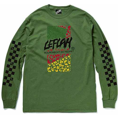 <img class='new_mark_img1' src='https://img.shop-pro.jp/img/new/icons2.gif' style='border:none;display:inline;margin:0px;padding:0px;width:auto;' />【LEFLAH】leopard logo long tee(KAH)