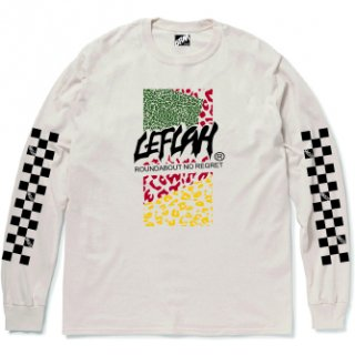 <img class='new_mark_img1' src='https://img.shop-pro.jp/img/new/icons2.gif' style='border:none;display:inline;margin:0px;padding:0px;width:auto;' />【LEFLAH】leopard logo long tee(NAL)