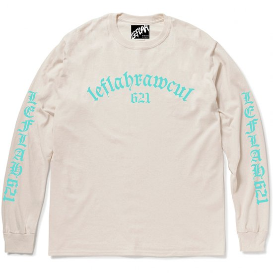 <img class='new_mark_img1' src='https://img.shop-pro.jp/img/new/icons1.gif' style='border:none;display:inline;margin:0px;padding:0px;width:auto;' />【LEFLAH】old-E arch logo long tee(NAL)