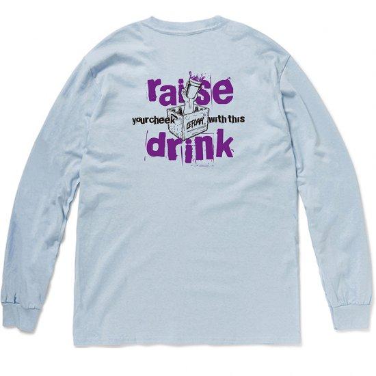 <img class='new_mark_img1' src='https://img.shop-pro.jp/img/new/icons1.gif' style='border:none;display:inline;margin:0px;padding:0px;width:auto;' />【LEFLAH】raise drink logo long tee(BLU)