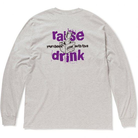 <img class='new_mark_img1' src='https://img.shop-pro.jp/img/new/icons1.gif' style='border:none;display:inline;margin:0px;padding:0px;width:auto;' />【LEFLAH】raise drink logo long tee(ASH)