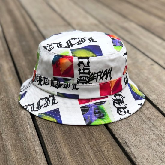 <img class='new_mark_img1' src='https://img.shop-pro.jp/img/new/icons1.gif' style='border:none;display:inline;margin:0px;padding:0px;width:auto;' />【LEFLAH】comprehension pattern bucket hat (WHT)