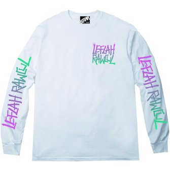 <img class='new_mark_img1' src='https://img.shop-pro.jp/img/new/icons1.gif' style='border:none;display:inline;margin:0px;padding:0px;width:auto;' />【LEFLAH】G-spray logo long tee(WHT)