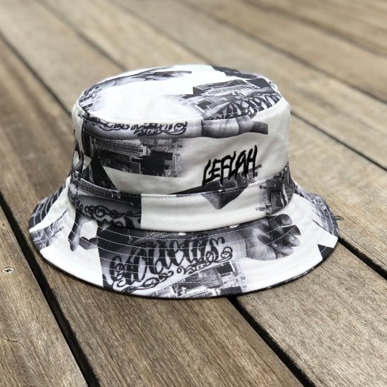<img class='new_mark_img1' src='https://img.shop-pro.jp/img/new/icons1.gif' style='border:none;display:inline;margin:0px;padding:0px;width:auto;' />【LEFLAH】hand pattern bucket hat(WHT)