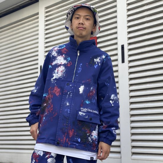 <img class='new_mark_img1' src='https://img.shop-pro.jp/img/new/icons1.gif' style='border:none;display:inline;margin:0px;padding:0px;width:auto;' /> 【LEFLAH】pullover-ish paint denim jkt(BLU)
