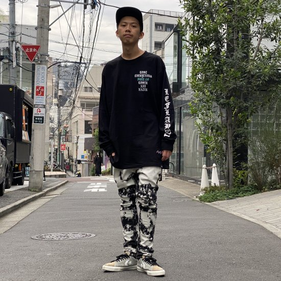 <img class='new_mark_img1' src='https://img.shop-pro.jp/img/new/icons1.gif' style='border:none;display:inline;margin:0px;padding:0px;width:auto;' />  【LEFLAH】 bleach skinny denim (BLK)