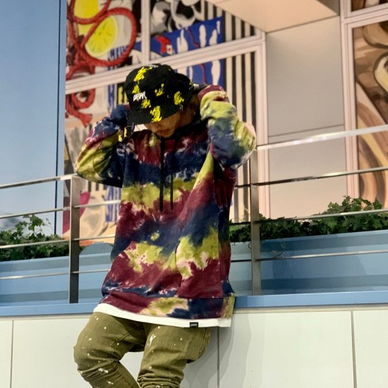 <img class='new_mark_img1' src='https://img.shop-pro.jp/img/new/icons1.gif' style='border:none;display:inline;margin:0px;padding:0px;width:auto;' />【LEFLAH】rawcul logo embroidery tie dye parka(RED)