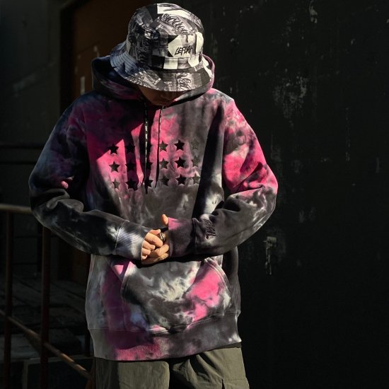 <img class='new_mark_img1' src='https://img.shop-pro.jp/img/new/icons1.gif' style='border:none;display:inline;margin:0px;padding:0px;width:auto;' />【LEFLAH】L+F ★ tie-dye parka(PNK)