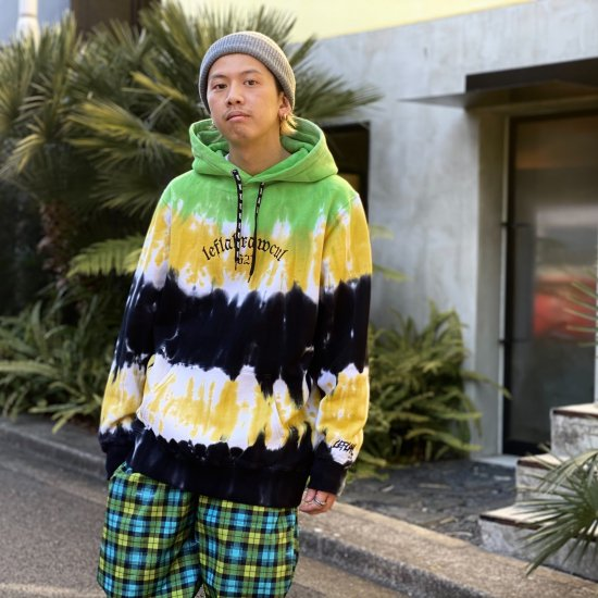 <img class='new_mark_img1' src='https://img.shop-pro.jp/img/new/icons1.gif' style='border:none;display:inline;margin:0px;padding:0px;width:auto;' />【LEFLAH】all day tie-dye parka (GRN)