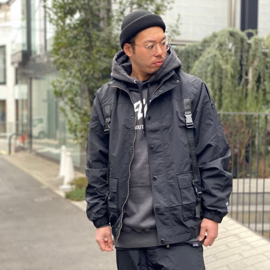 【LEFLAH】taslan adjustable belt jacket(BLK)