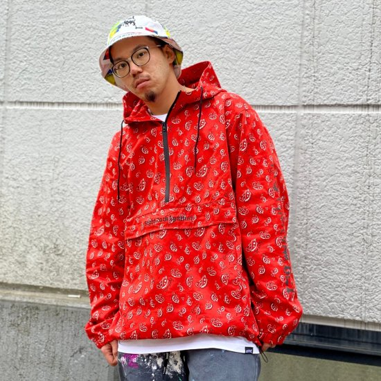 <img class='new_mark_img1' src='https://img.shop-pro.jp/img/new/icons1.gif' style='border:none;display:inline;margin:0px;padding:0px;width:auto;' />【LEFLAH】hand write paisley anorak jacket(RED)