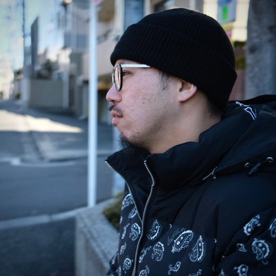 <img class='new_mark_img1' src='https://img.shop-pro.jp/img/new/icons1.gif' style='border:none;display:inline;margin:0px;padding:0px;width:auto;' />【LEFLAH】 color knit cap(BLK)