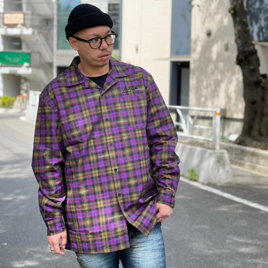 <img class='new_mark_img1' src='https://img.shop-pro.jp/img/new/icons1.gif' style='border:none;display:inline;margin:0px;padding:0px;width:auto;' />【LEFLAH】original checked open collar shirts (PPL)