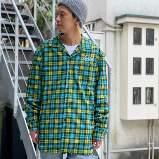 <img class='new_mark_img1' src='https://img.shop-pro.jp/img/new/icons1.gif' style='border:none;display:inline;margin:0px;padding:0px;width:auto;' />【LEFLAH】original checked open collar shirts (BLU)