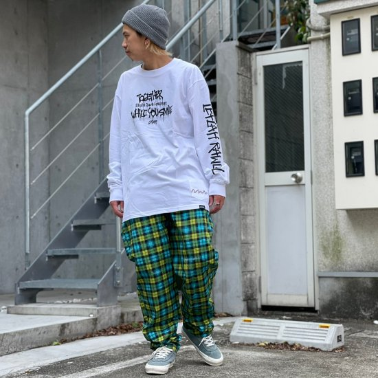 <img class='new_mark_img1' src='https://img.shop-pro.jp/img/new/icons1.gif' style='border:none;display:inline;margin:0px;padding:0px;width:auto;' />【LEFLAH】original checked easy pants (BLU)