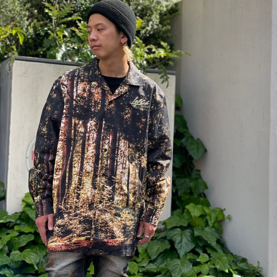 <img class='new_mark_img1' src='https://img.shop-pro.jp/img/new/icons1.gif' style='border:none;display:inline;margin:0px;padding:0px;width:auto;' />【LEFLAH】digital forest open collar shirt(BRW)