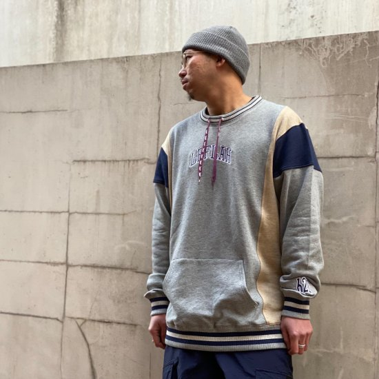 <img class='new_mark_img1' src='https://img.shop-pro.jp/img/new/icons1.gif' style='border:none;display:inline;margin:0px;padding:0px;width:auto;' />【LEFLAH】drawcord crew neck sweat(GRY)