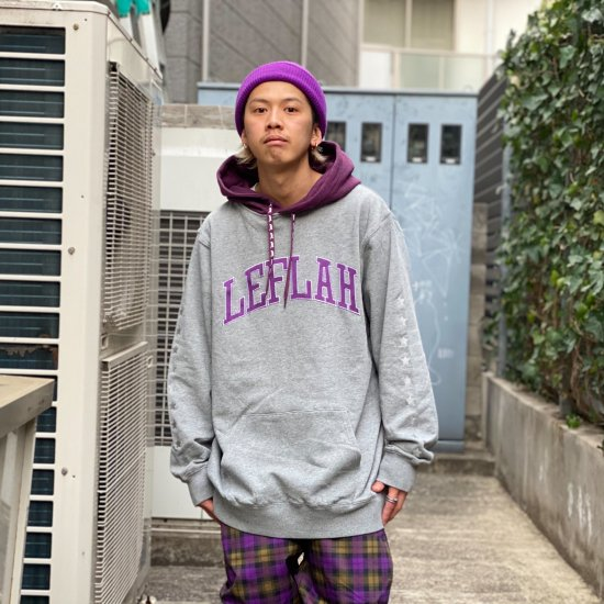 <img class='new_mark_img1' src='https://img.shop-pro.jp/img/new/icons1.gif' style='border:none;display:inline;margin:0px;padding:0px;width:auto;' />【LEFLAH】bi-color arch logo parka(GRY)