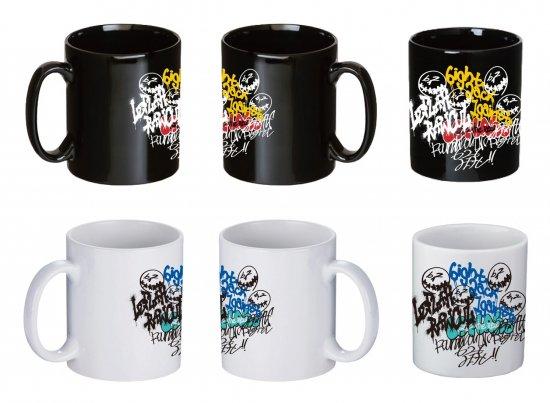 <img class='new_mark_img1' src='https://img.shop-pro.jp/img/new/icons1.gif' style='border:none;display:inline;margin:0px;padding:0px;width:auto;' />【LEFLAH】self graffiti mug cup 2-piece set (BLK × WHT)