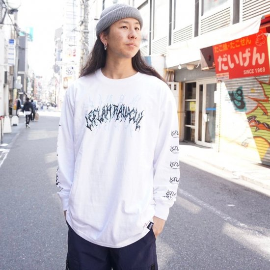 <img class='new_mark_img1' src='https://img.shop-pro.jp/img/new/icons1.gif' style='border:none;display:inline;margin:0px;padding:0px;width:auto;' />【LEFLAH】spine-chilling long tee(WHT)