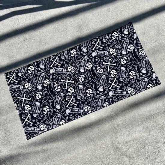 【LEFLAH】original skull pattern bath towel