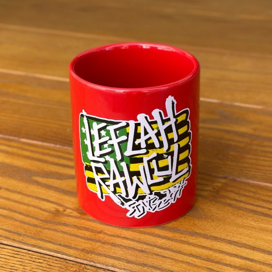 <img class='new_mark_img1' src='https://img.shop-pro.jp/img/new/icons1.gif' style='border:none;display:inline;margin:0px;padding:0px;width:auto;' />【LEFLAH】flag logo mug cup (RED)