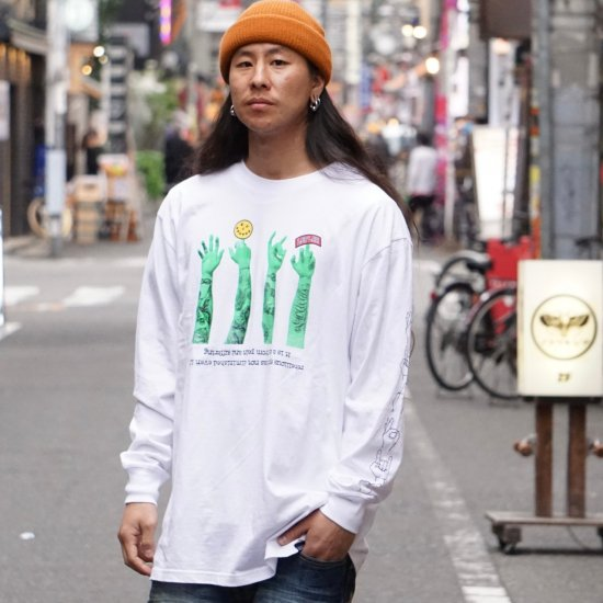 <img class='new_mark_img1' src='https://img.shop-pro.jp/img/new/icons1.gif' style='border:none;display:inline;margin:0px;padding:0px;width:auto;' />【LEFLAH】621 sign long tee (WHT)