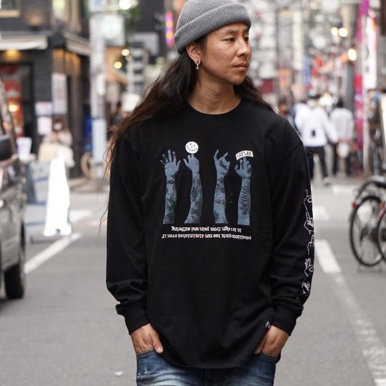 <img class='new_mark_img1' src='https://img.shop-pro.jp/img/new/icons1.gif' style='border:none;display:inline;margin:0px;padding:0px;width:auto;' />【LEFLAH】621 sign long tee (BLK)