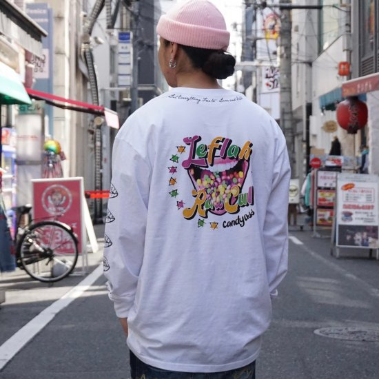<img class='new_mark_img1' src='https://img.shop-pro.jp/img/new/icons1.gif' style='border:none;display:inline;margin:0px;padding:0px;width:auto;' />【LEFLAH】candy ass long tee (WHT)