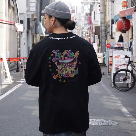 <img class='new_mark_img1' src='https://img.shop-pro.jp/img/new/icons1.gif' style='border:none;display:inline;margin:0px;padding:0px;width:auto;' />【LEFLAH】candy ass long tee (BLK)