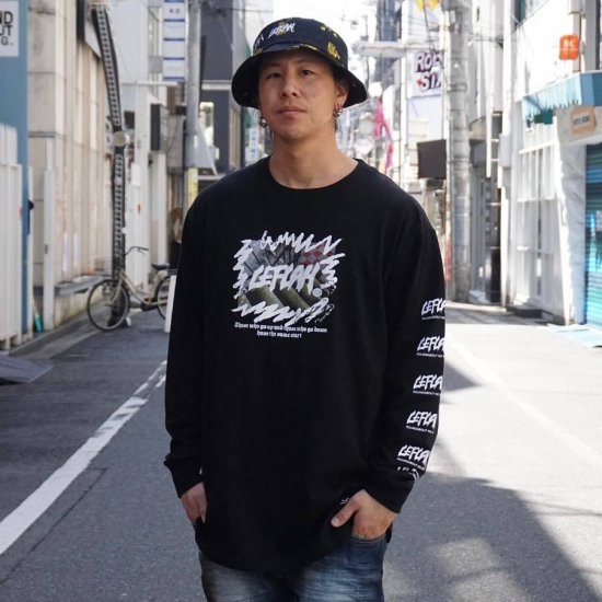 <img class='new_mark_img1' src='https://img.shop-pro.jp/img/new/icons1.gif' style='border:none;display:inline;margin:0px;padding:0px;width:auto;' />【LEFLAH】same start long tee (BLK)