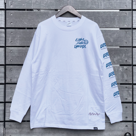 <img class='new_mark_img1' src='https://img.shop-pro.jp/img/new/icons1.gif' style='border:none;display:inline;margin:0px;padding:0px;width:auto;' />【LEFLAH】one by one long tee(WHT/BLU)