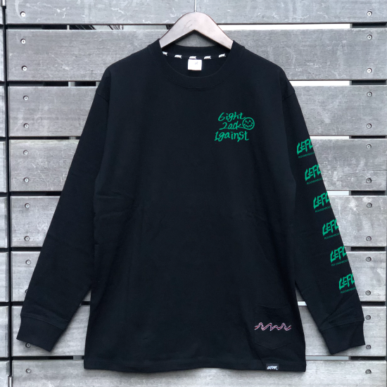 <img class='new_mark_img1' src='https://img.shop-pro.jp/img/new/icons1.gif' style='border:none;display:inline;margin:0px;padding:0px;width:auto;' />【LEFLAH】one by one long tee(BLK/GRN)