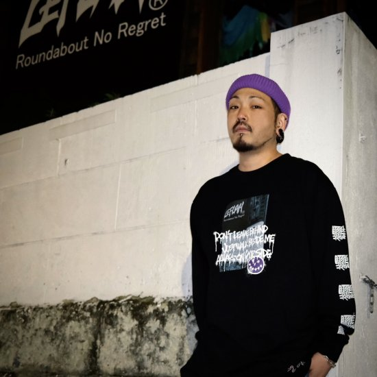 <img class='new_mark_img1' src='https://img.shop-pro.jp/img/new/icons1.gif' style='border:none;display:inline;margin:0px;padding:0px;width:auto;' />【LEFLAH】beside me long tee(BLK) ※限定100個マスクストラップ付き