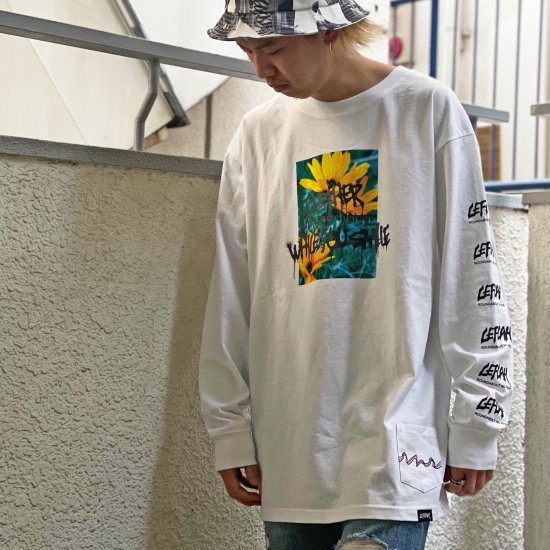 <img class='new_mark_img1' src='https://img.shop-pro.jp/img/new/icons1.gif' style='border:none;display:inline;margin:0px;padding:0px;width:auto;' />【LEFLAH】your side long tee(WHT) ※限定100個マスクストラップ付き