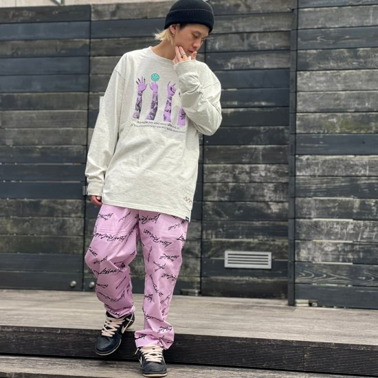 <img class='new_mark_img1' src='https://img.shop-pro.jp/img/new/icons1.gif' style='border:none;display:inline;margin:0px;padding:0px;width:auto;' />【LEFLAH】k love sign easy pants (PNK)