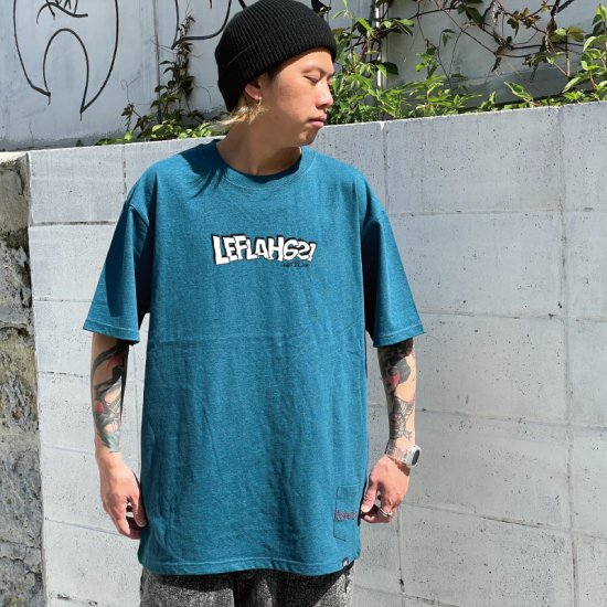 <img class='new_mark_img1' src='https://img.shop-pro.jp/img/new/icons1.gif' style='border:none;display:inline;margin:0px;padding:0px;width:auto;' />【LEFLAH】distortion logo tee(GRN)
