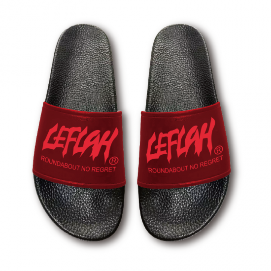 <img class='new_mark_img1' src='https://img.shop-pro.jp/img/new/icons1.gif' style='border:none;display:inline;margin:0px;padding:0px;width:auto;' />【LEFLAH】main logo slide sandals (RED)