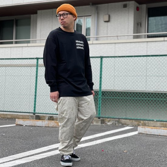 <img class='new_mark_img1' src='https://img.shop-pro.jp/img/new/icons1.gif' style='border:none;display:inline;margin:0px;padding:0px;width:auto;' />【LEFLAH】hand sign pattern easy pants (BEG)